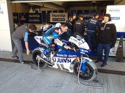 Hector Barbera trying the position