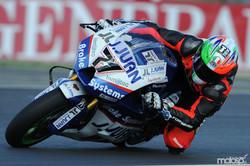 Claudio Corti racing in Valencia