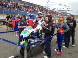 Ivan Silva on starting grid