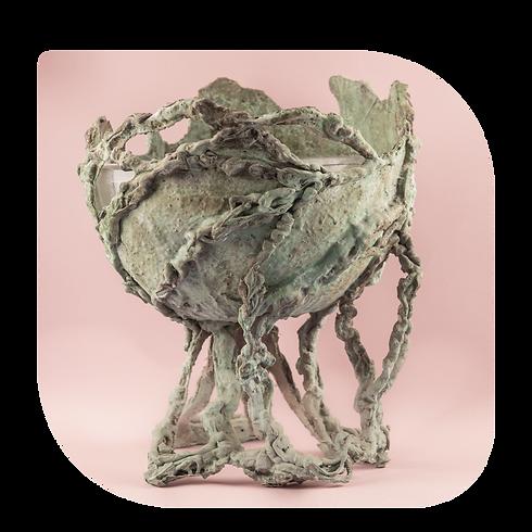 coupe sculpture art artiste artisanat paris genevieve bonieux artiste parisienne rue de Lappe Galerie d'Art Artist coupelle saladier original cadeau art contemporain
