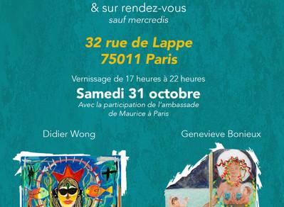 """Exposition """"de l'Ile Maurice à Paris"""", à Lappelier, 32 rue de Lappe, Paris 75011 (FR / EN)"""