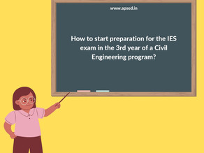 How can I start preparation for the IES exam in the 3rd year of a Civil Engineering program?
