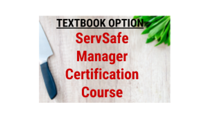 ServSafe Manager Certification Course/Exam (WITH TEXTBOOK)