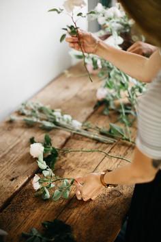 Arrenging local flowers