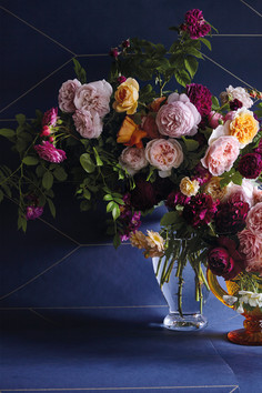 English roses flower arrangement