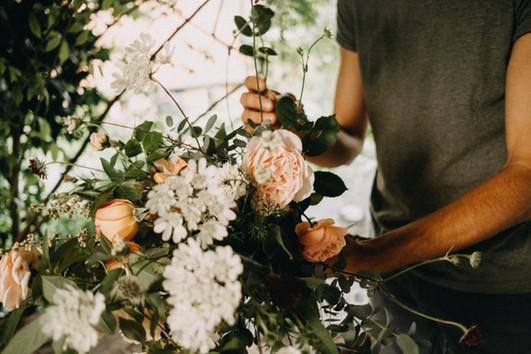 Creating a seasonal bouquet