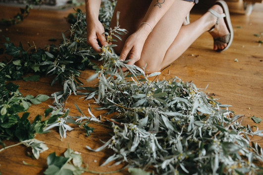 Organic wreath making