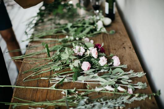 Local fresh cut flowers for workshop