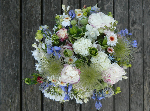 May organic flower bouquet