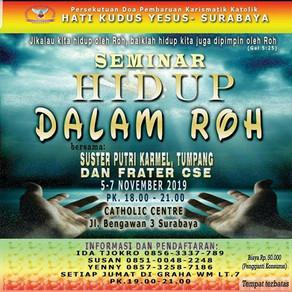 Seminar Hidup Dalam Roh - PDPKK Hati Kudus Yesus, Surabaya