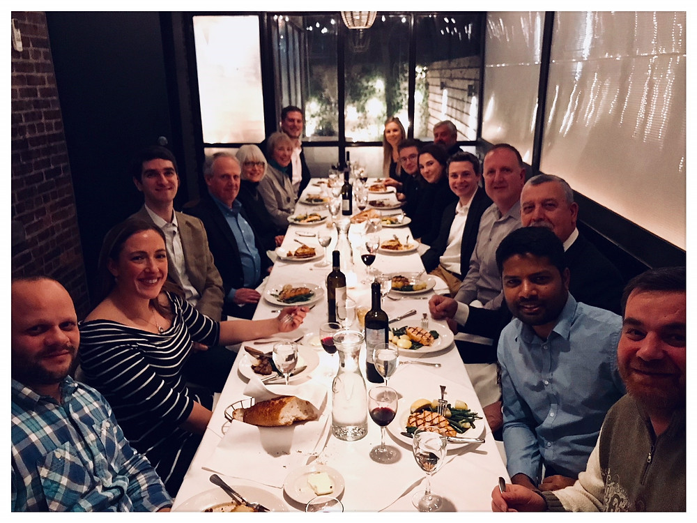 Employees, family and friends at our NYC dinner.