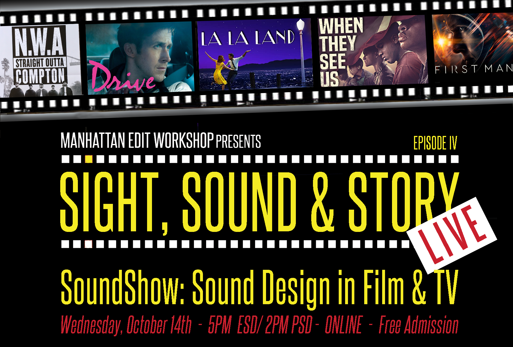 "Sight, Sound & Story: Live ""SoundShow: Sound Design in Film & TV"""