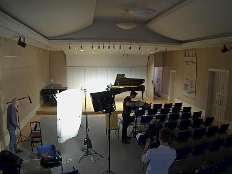 ホールで映画が撮影されました。