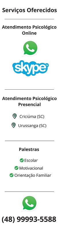 Serviços Oferecidos Psicólogo