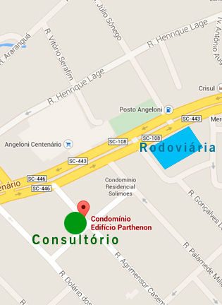 Endereço consultório Criciúma psicólogo Alex Cambruzzi