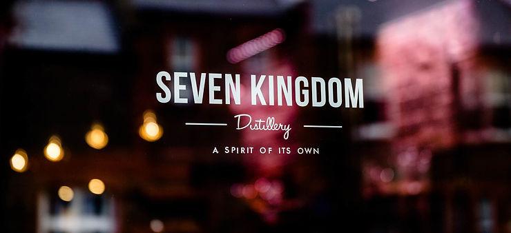 Seven Kingdom Distillery sign