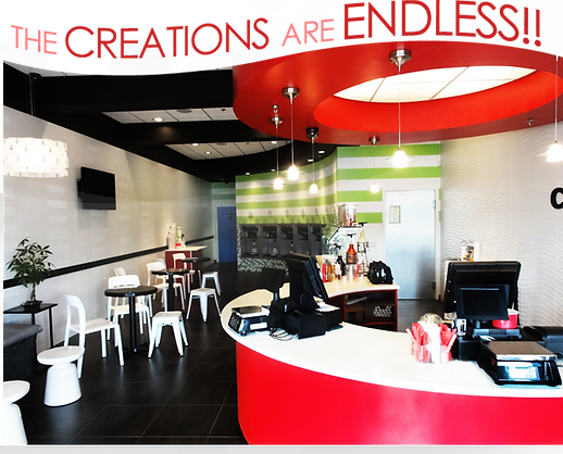 Inside of Creations Frozen Yogurt