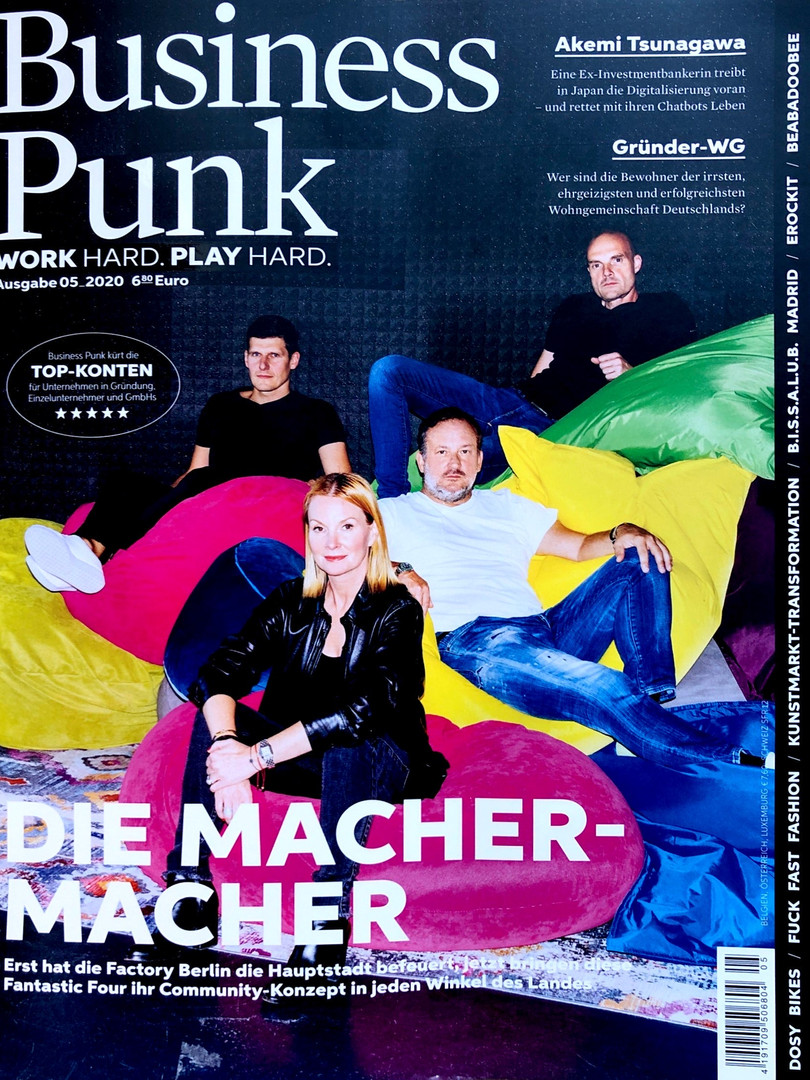 Business Punk Feature. October 2020.