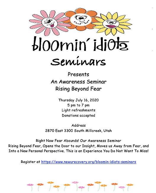Bloomin Idiots Rising Beyond Fear Semina