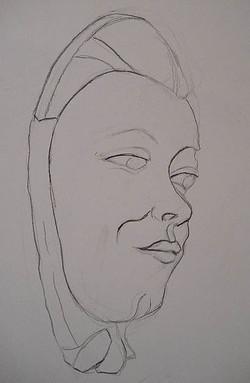Reproduction d'un plâtre, femme