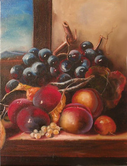 A Still Life of Black Grapes...