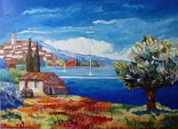 Composition d'un paysage Provençale