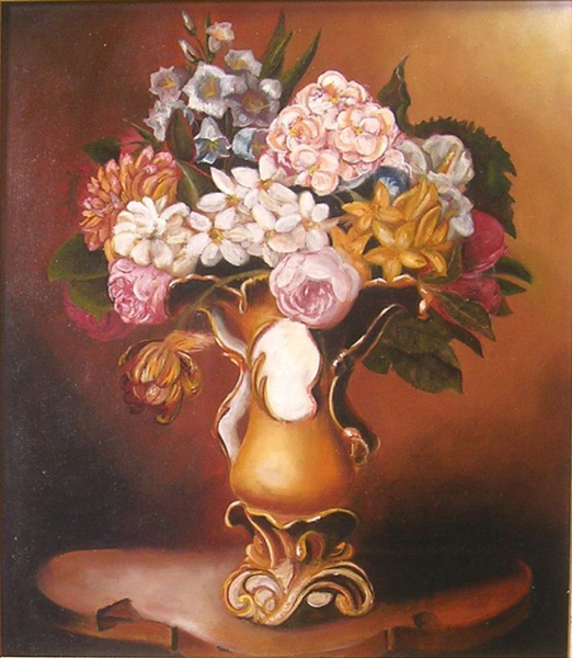 A vase of assorted Flowers