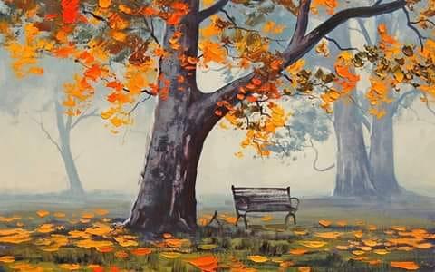 Couleurs d'automne à l'aquarelle