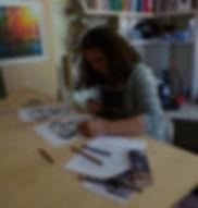 cours fusain chien portrait d'animaux apprendre à dessiner hyères var