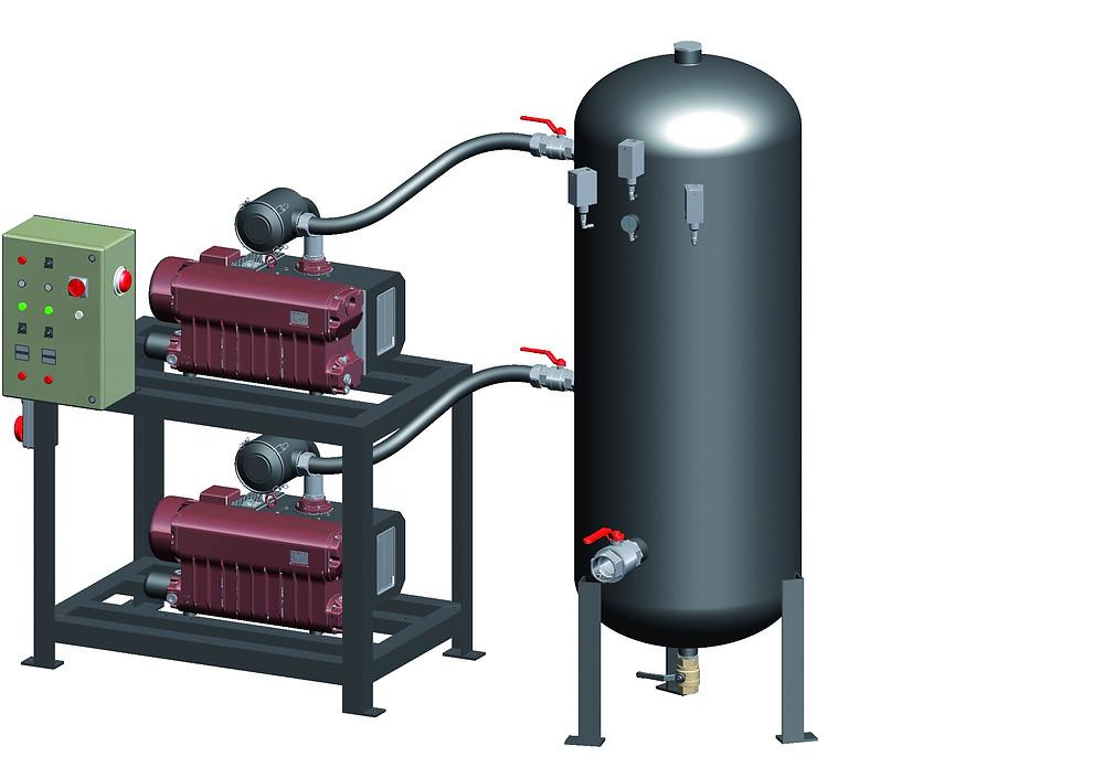 Twin vacuum pump Set