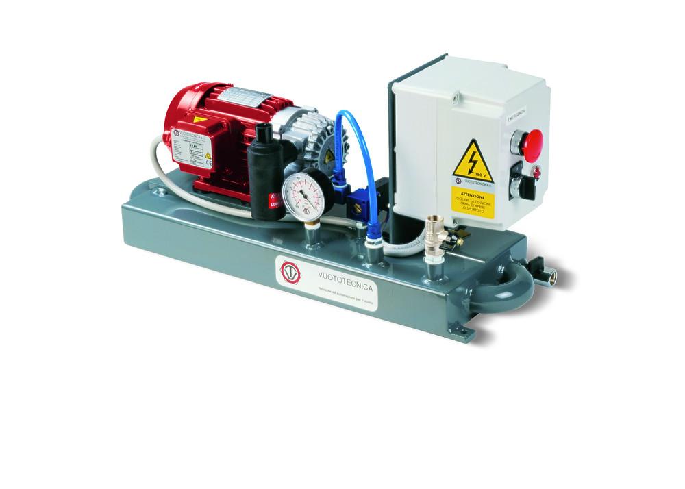Small compact vacuum pump set