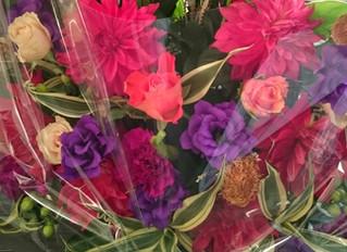 お花に力を貰う。