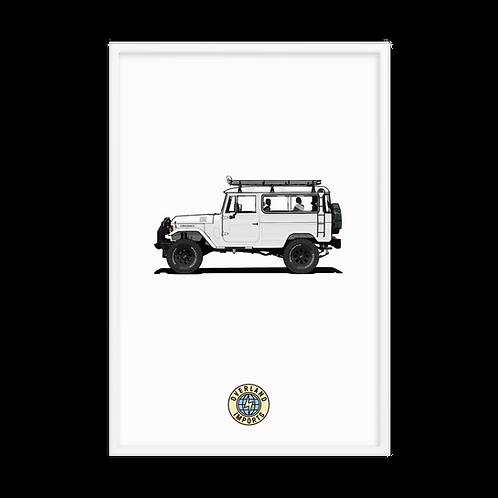 Extended Cab White Bandeirante Framed poster