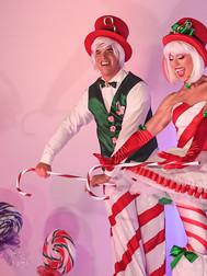 Dandy Cane & Candy Cane - Stilt Walkers