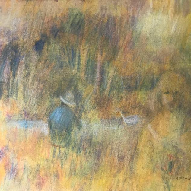 Yellow Figurative (Pastel) 1980