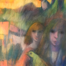 Two Girls and a bird