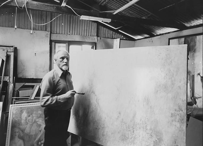 John Faulkner in his studio in Santa Cruz, CA 1987.jpg