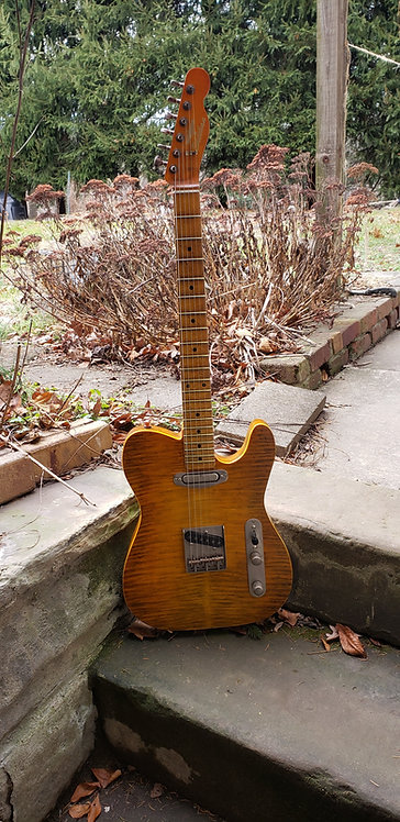 Flame Maple Tele with Porter Antique Pickups