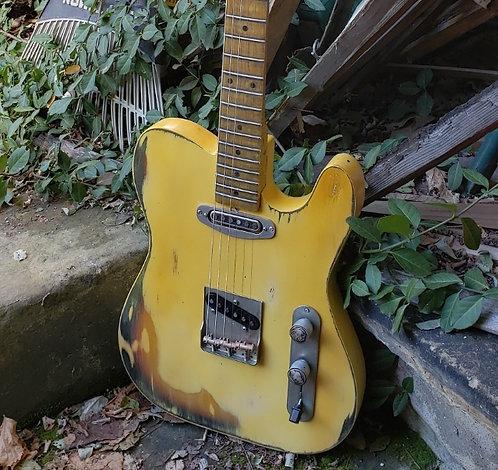 Yellow Relic'd Tele