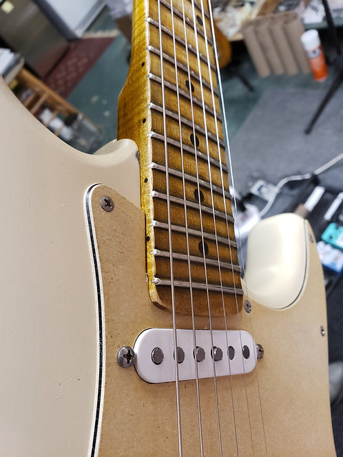 White Relic'd Custom Strat