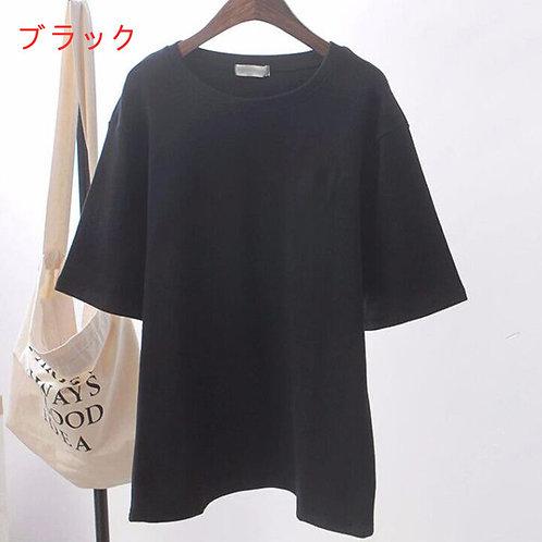ゆったりオーバーサイズTシャツ ブラック