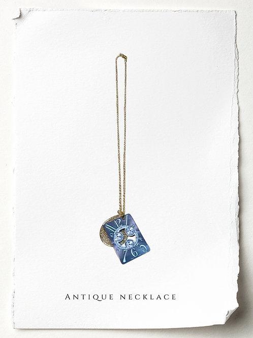 【パーペチュアルカレンダー】ゴールド n007 アンティークフランクミュラーペンダントトップネックレス
