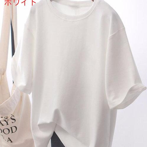 ゆったりオーバーサイズTシャツ ホワイト