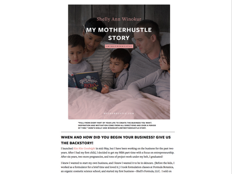 MY MOTHERHUSTLE STORY: SHELLY ANN WINOKUR
