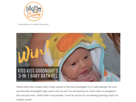 Win: Kiss Kiss Goodnight's 3-in-1 baby bath gel