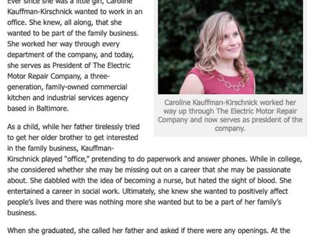 Caroline Kauffman-Kirschnick's rise to president