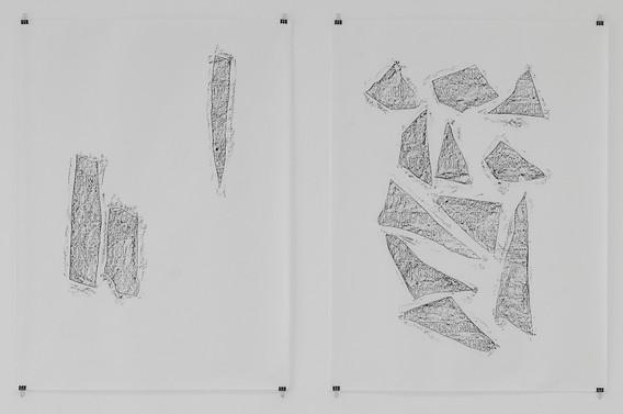 Darnau o bedair argrfflechi - Frammenti di quattro lapidi, Detail