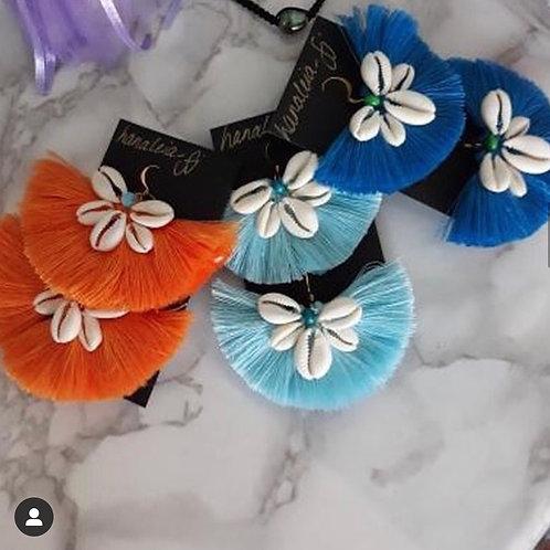 HANALEIA Tassle and Cowrie earrings