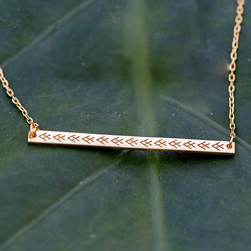 FONU Yavuni Ika Bar Necklace