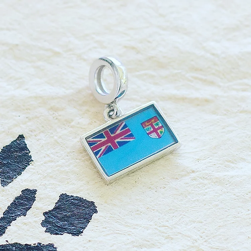 ADORN Fiji Flag Charm Silver